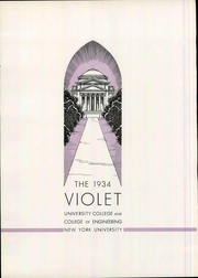 Page 9, 1934 Edition, New York University - Violet Yearbook (New York, NY) online yearbook collection