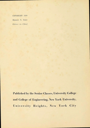 Page 4, 1939 Edition, New York University - Violet Yearbook (New York, NY) online yearbook collection