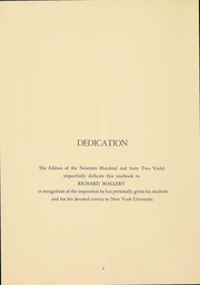 Page 7, 1962 Edition, New York University - Violet Yearbook (New York, NY) online yearbook collection