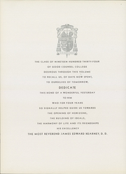Page 8, 1934 Edition, Good Counsel College - Vestigia Yearbook (White Plains, NY) online yearbook collection