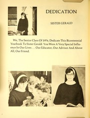 Page 6, 1976 Edition, Immaculata Academy - Reflections Yearbook (Hamburg, NY) online yearbook collection