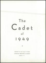 Page 7, 1949 Edition, Christian Brothers Academy - Cadet Yearbook (Albany, NY) online yearbook collection