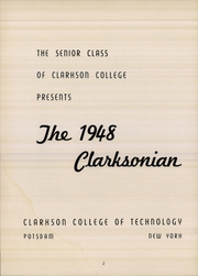 Page 4, 1948 Edition, Clarkson University - Clarksonian Yearbook (Potsdam, NY) online yearbook collection