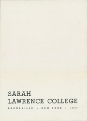 Page 7, 1947 Edition, Sarah Lawrence College - Yearbook (Bronxville, NY) online yearbook collection