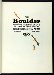 Page 9, 1927 Edition, Houghton College - Boulder Yearbook (Houghton, NY) online yearbook collection