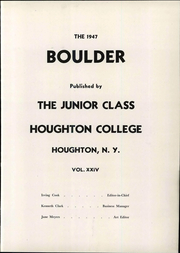 Page 9, 1947 Edition, Houghton College - Boulder Yearbook (Houghton, NY) online yearbook collection