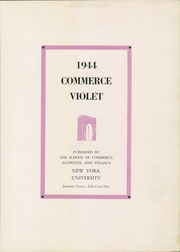 Page 7, 1944 Edition, New York University School of Commerce - Commerce Violet Yearbook (New York, NY) online yearbook collection