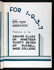 Page 7, 1937 Edition, Russell Sage College - Sage Leaves Yearbook (Troy, NY) online yearbook collection