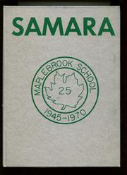 Page 1, 1970 Edition, Maplebrook School - Samara Yearbook (Amenia, NY) online yearbook collection