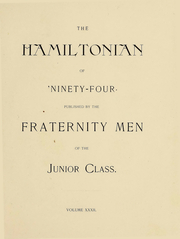 Page 10, 1894 Edition, Hamilton College - Hamiltonian Yearbook (Clinton, NY) online yearbook collection