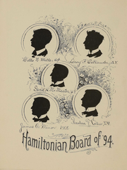 Page 9, 1894 Edition, Hamilton College - Hamiltonian Yearbook (Clinton, NY) online yearbook collection