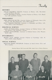 Page 15, 1947 Edition, Hamilton College - Hamiltonian Yearbook (Clinton, NY) online yearbook collection
