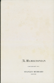 Page 5, 1947 Edition, Hamilton College - Hamiltonian Yearbook (Clinton, NY) online yearbook collection