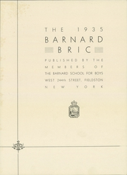 Page 7, 1935 Edition, Barnard School for Boys - Bric Yearbook (Fieldston, NY) online yearbook collection