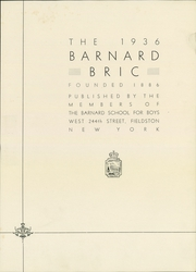 Page 7, 1936 Edition, Barnard School for Boys - Bric Yearbook (Fieldston, NY) online yearbook collection