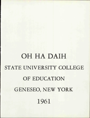 Page 15, 1961 Edition, SUNY at Geneseo - Normalian Yearbook (Geneseo, NY) online yearbook collection