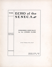 Page 6, 1902 Edition, Hobart College - Echo of the Seneca Yearbook (Geneva, NY) online yearbook collection