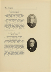 Page 13, 1907 Edition, University of Rochester - Interpres Yearbook (Rochester, NY) online yearbook collection