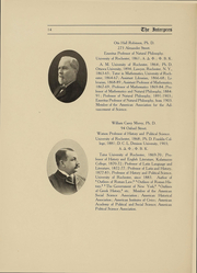 Page 14, 1907 Edition, University of Rochester - Interpres Yearbook (Rochester, NY) online yearbook collection