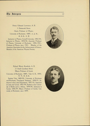 Page 17, 1907 Edition, University of Rochester - Interpres Yearbook (Rochester, NY) online yearbook collection