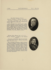 Page 17, 1908 Edition, University of Rochester - Interpres Yearbook (Rochester, NY) online yearbook collection