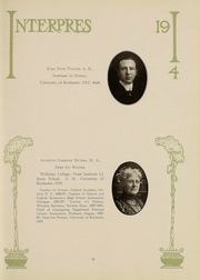 Page 38, 1914 Edition, University of Rochester - Interpres Yearbook (Rochester, NY) online yearbook collection