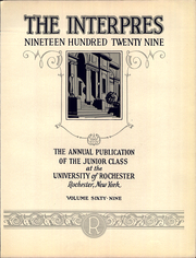 Page 10, 1929 Edition, University of Rochester - Interpres Yearbook (Rochester, NY) online yearbook collection