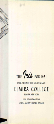 Page 9, 1951 Edition, Elmira College - Iris Yearbook (Elmira, NY) online yearbook collection