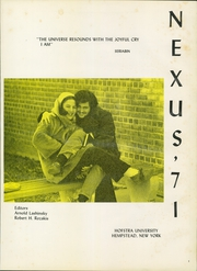 Page 5, 1971 Edition, Hofstra University - Nexus Yearbook (Hempstead, NY) online yearbook collection
