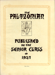 Page 3, 1927 Edition, SUNY at New Paltz - Paltzonian Yearbook (New Paltz, NY) online yearbook collection