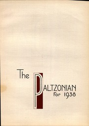 Page 9, 1938 Edition, SUNY at New Paltz - Paltzonian Yearbook (New Paltz, NY) online yearbook collection