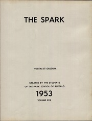 Page 5, 1953 Edition, The Park School - Spark Yearbook (Buffalo, NY) online yearbook collection