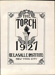 Page 7, 1927 Edition, De La Salle Institute - Torch Yearbook (New York, NY) online yearbook collection