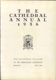 Page 9, 1936 Edition, Cathedral College of the Immaculate Conception - Annual Yearbook (Brooklyn, NY) online yearbook collection