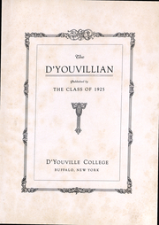 Page 3, 1925 Edition, DYouville College - DYouvillian Yearbook (Buffalo, NY) online yearbook collection