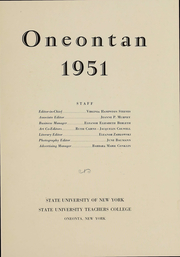 Page 3, 1951 Edition, SUNY at Oneonta - Oneontan Yearbook (Oneonta, NY) online yearbook collection