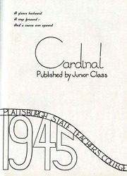 Page 5, 1945 Edition, SUNY at Plattsburgh - Cardinal Yearbook (Plattsburgh, NY) online yearbook collection