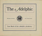 Page 2, 1923 Edition, Adelphi Academy - Adelphic Yearbook (Brooklyn, NY) online yearbook collection