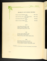 Page 16, 1933 Edition, Brooklyn Law School - Chancellor Yearbook (Brooklyn, NY) online yearbook collection