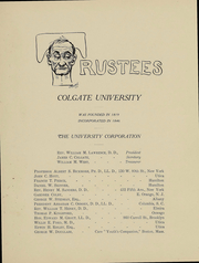 Page 14, 1908 Edition, Colgate University - Salmagundi Yearbook (Hamilton, NY) online yearbook collection