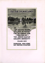 Page 4, 1918 Edition, Colgate University - Salmagundi Yearbook (Hamilton, NY) online yearbook collection