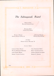 Page 10, 1925 Edition, Colgate University - Salmagundi Yearbook (Hamilton, NY) online yearbook collection