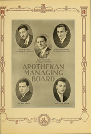 Page 13, 1931 Edition, Columbia University College of Pharmacy - Apothekan Yearbook (New York, NY) online yearbook collection