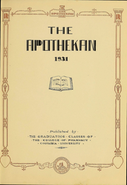 Page 4, 1931 Edition, Columbia University College of Pharmacy - Apothekan Yearbook (New York, NY) online yearbook collection