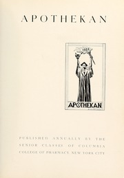 Page 7, 1938 Edition, Columbia University College of Pharmacy - Apothekan Yearbook (New York, NY) online yearbook collection