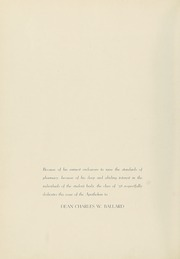 Page 8, 1938 Edition, Columbia University College of Pharmacy - Apothekan Yearbook (New York, NY) online yearbook collection