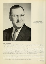 Page 12, 1963 Edition, Columbia University College of Pharmacy - Apothekan Yearbook (New York, NY) online yearbook collection
