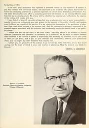 Page 13, 1963 Edition, Columbia University College of Pharmacy - Apothekan Yearbook (New York, NY) online yearbook collection