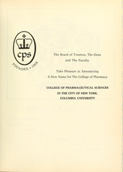 Page 7, 1967 Edition, Columbia University College of Pharmacy - Apothekan Yearbook (New York, NY) online yearbook collection