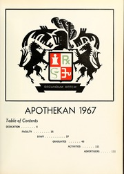 Page 9, 1967 Edition, Columbia University College of Pharmacy - Apothekan Yearbook (New York, NY) online yearbook collection